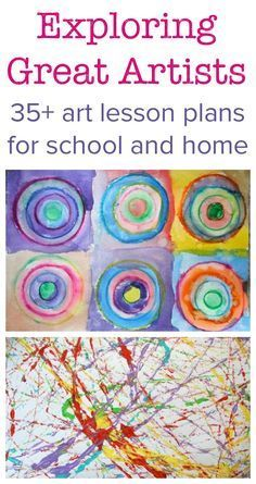 Exploring Great Artists :: complete art lesson plans Discover great children's art projects, plans for famous school and household art lessons, art projects for children, art history lessons Art History Projects For Kids, History Lessons For Kids, School Art Projects, Kids Art Lessons, Preschool Art Lessons, Art Education Projects, Preschool Artist Theme, Art Projects For Kindergarteners, Art Montessori