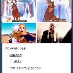 A prince does not whoo-hooo. Legolas and Thranduil Legolas And Thranduil, Thranduil Funny, Legolas Funny Faces, Aragorn, O Hobbit, Hobbit Funny, J. R. R. Tolkien, Fandoms, Middle Earth