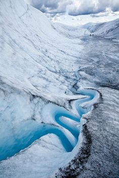 Meltwater stream on the Root Glacier, Alaska
