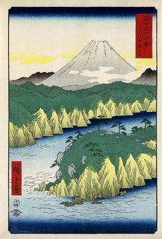 Hiroshige: The lake in Hakone, 1858