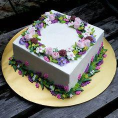 Flowers birthday cake sheet 63 Ideas for 2019 Pretty Cakes, Beautiful Cakes, Amazing Cakes, Cake Decorating Techniques, Cake Decorating Tips, Fun Cupcakes, Cupcake Cakes, Birthday Sheet Cakes, Cake Birthday