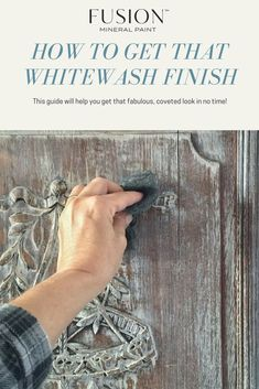 Find out how to get that coveted whitewash look on your painted furniture pieces - details available on the blog. #paintedfurniture #paintitbeautiful #diyfurniture
