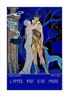 George Barbier-L'Apres Midi d'un Faune-París 1912
