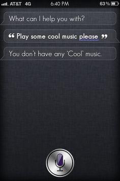 Apple Siri and Cool music