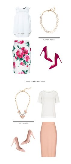 Congratulations to all my fellow 2013 grads!Now it's time to find a job.Zara White Top // D&G Floral Pencil Skirt // J.Crew Crystal Necklace // Manolo Blahnik Suede Pumps J.Crew Blush Cry…