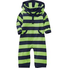 Old Navy Printed Hooded Onepieces For Baby (105 SEK) ❤ liked on Polyvore featuring baby, baby clothes, baby stuff and girls