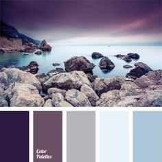 Shades of the eggplant color match the pastel shades of blue very harmoniously. Shades of the eggplant color match the pastel shades of blue very harmoniously. This palette of cold colors is appropriate for bedroom decoration. Paint Schemes, Colour Schemes, Color Combos, Paint Combinations, Gray Bedroom Color Schemes, Color Schemes With Gray, Apartment Color Schemes, Eggplant Bedroom, Diy Ikea Hacks