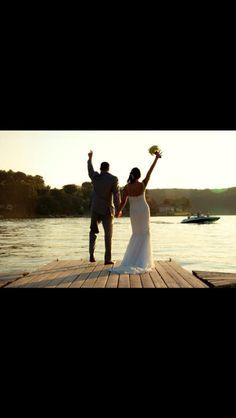 L & C summer wedding