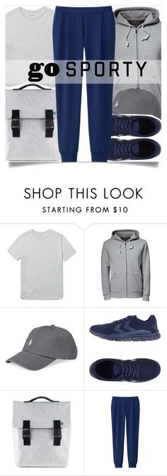 """""""Mens Wear"""" by madeinmalaysia ❤ liked on Polyvore featuring Nonnative, Lands' End, Polo Ralph Lauren, Hummel, Mad Rabbit Kicking Tiger, Uniqlo, men's fashion, menswear and sportystyle"""