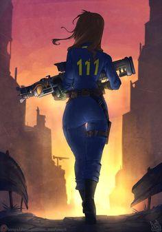 Выжившая арт, fallout 4, DeviantArt