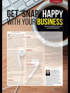 Article on how personal trainers can use Snapchat in their business.
