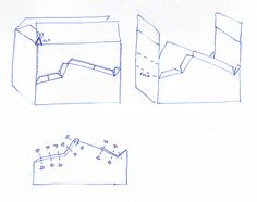 How to build a cardboard car sketch by mr.mcgroovy, via Flickr Make cars for birthday party out of boxes. Kids paint or can race around.