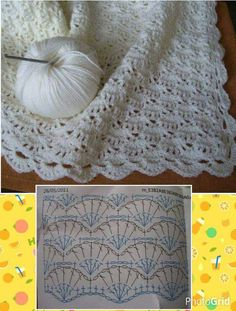 Ideas crochet blanket pattern diagram ganchillo for 2019 Crochet Diagram, Crochet Chart, Crochet Motif, Diy Crochet, Crochet Ideas, Plaid Crochet, Freeform Crochet, Crochet Baby Shawl, Crochet Blanket Edging