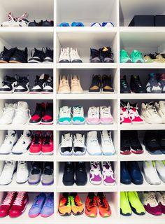 """My favorite pair has to be the Air Jordans 3."" – Victor http://www.thecoveteur.com/victor-cruz-elaina-watley/"