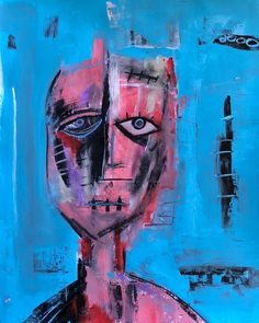 952 Likes, 19 Comments - Mixedmedia, Painting, Stalking, Dreaming Of You, Abstract Art, Art, Contemporary Art, Portrait