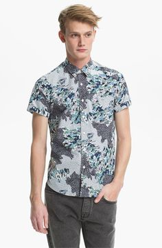 Topman camouflage Pattern Print Shirt.