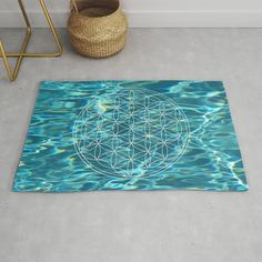 #Floweroflife in the water Rug Sizes: 2' x 3' and 4' x 6' Made from a woven, polyester chenille Only topside is printed with a design Backing made from a durable cotton/poly canvas Buy Flowers, Flower Of Life, Rug Size, Kids Rugs, Printed, Canvas, Water, Cotton, Design