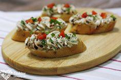 Pena z treščej pečene - Powered by @ultimaterecipe Russian Recipes, Bruschetta, Baked Potato, Dips, Appetizers, Potatoes, Snacks, Baking, Ethnic Recipes