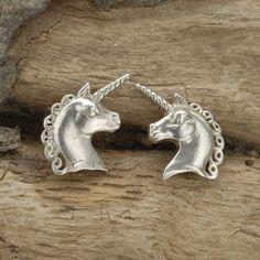 Unicorn Cufflinks in Sterling Silver. by SimonKempJewellers