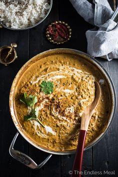 Coconut Black Lentil Curry is a creamy and crazy delicious vegan curry recipe. Using coconut milk instead of heavy cream keeps this buttery dal makhani dairy free without losing any of the richness you crave.