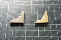 Buchecken / Metallecken 19 x 19 x 3 mm für Speisekarten etc.
