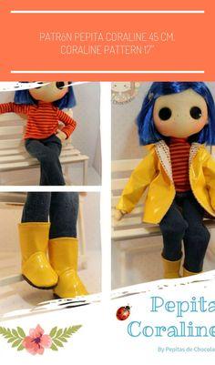 Coraline Costume, Coraline Doll, Coraline Jones, Doll Patterns Free, Plushie Patterns, Nerd Crafts, Fun Crafts, Cute Crochet, Crochet Dolls
