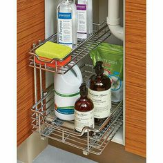 under sink sliding organizer