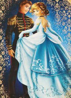 Cendrillon et Prince Charmant Artistic liberties were taken, but I really really like this Walt Disney, Disney Pixar, Anime Disney, Disney Nerd, Disney Fan Art, Disney Girls, Disney And Dreamworks, Disney Cartoons, Disney Love