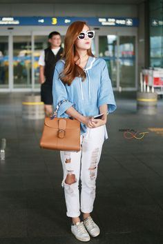 Jessica Jung at Incheon Airport Back From Thailand Fashion Line, Kpop Fashion, Daily Fashion, Fashion Brand, Fashion 2015, Korean Airport Fashion, Korean Fashion, Jessica Jung Fashion, Jessica & Krystal