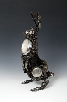 Steampunk-animals: the Rabbit   http://www.odditycentral.com/pics/steampunk-animals-by-james-corbett-the-car-part-sculptor.html#