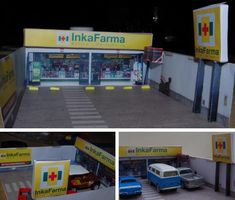 Inkafarma Shop Diorama Free Paper Model Download scale 1:64