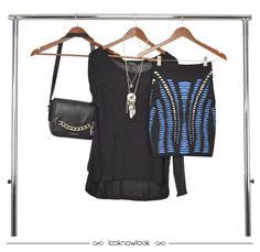 Blusa de tricô + Saia lápis de tricô + Bolsa com corrente. #moda #look #outfit #ootd #iorane #blessed #ellus #lojaonline #ecommerce #lnl #looknowlook