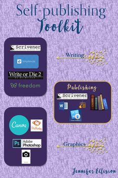 The most helpful websites and software in my writing and publishing toolkit for self-publishing. It'd be hard to self-publish without them.