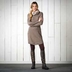 Toad&Co Women's Shadowstripe Sweaterdress Fall Winter Outfits, Autumn Winter Fashion, Outdoorsy Style, Outdoorsy Fashion, Outdoor Outfit, Fall Dresses, Toad, Fashion Beauty, My Style