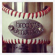 Baseball Bracelet with Handstamp of jersey number by BELOdesigns, $33.00