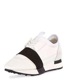 Mesh+&+Leather+Sneaker+by+Balenciaga
