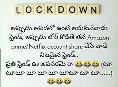 Fun Quotes, Best Quotes, Telugu Jokes, Netflix Account, Math, Funny, Math Resources, Ha Ha, Early Math