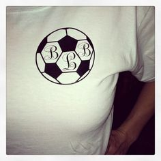 Monogrammed Soccer Shirt by Brookles13 on Etsy, $16.00