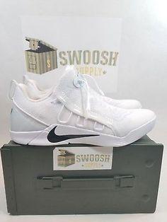 f7b0e1431cd3 2017 Nike Kobe AD NXT SZ 9 White Black Mamba Bryant 882049-100