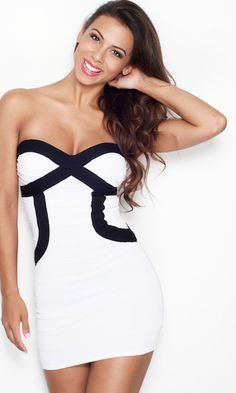 """TANIA"" SWEETHEART BANDAGE DRESS"