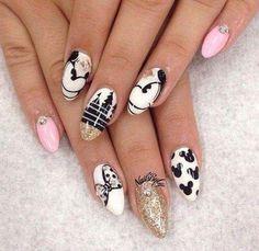 409 Best Disney Nail Art Images On Pinterest Fingernail Designs