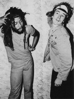 Big Youth & John Lydon photo by Dennis Morris