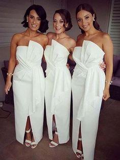 Gorgeous Unique Neck Ankle Length Bridesmaid Dresses , BW0450#bridesmaids #bridesmaiddress #bridesmaiddresses #dressesformaidofhonor #weddingparty #2020bridesmaiddresses White Bridesmaid Dresses Long, Bridesmaid Dresses Online, Prom Dresses, Dresses Uk, Formal Dresses, Junior Bridesmaids, Affordable Bridesmaid Dresses, Custom Dresses, Quinceanera Dresses