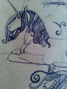 Zentangle art de Unicornio