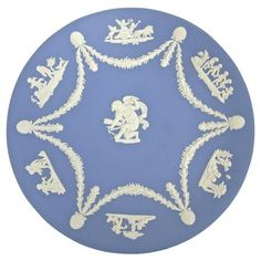 Check out this item at One Kings Lane! Wedgwood Jasperware Cherub Wall Plate
