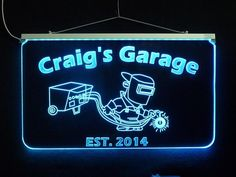"""Personalized Custom LED Welder Sign, Man Cave Sign, Garage Sign Business Sign *Design your own Sign, 17.25"""" x 10"""" - Unique LED Products"""