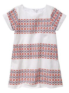 Gap | Embroidered cap-sleeve dress