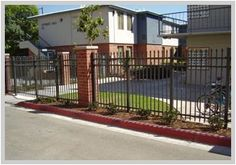 commercial residential metal fence