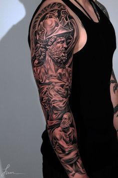 95 Awesome Examples of Full Sleeve Tattoo Ideas Dvrkness Tattoo Tattoos, Demon tattoo Tattoos Mandala, Tattoos Geometric, Tribal Sleeve Tattoos, Tattoos Skull, Best Sleeve Tattoos, Cool Tattoos, Small Tattoos, Mens Tattoos, Tattoo Sleeves