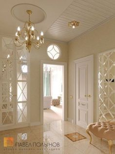 """Коридоры, холы, прихожие / Нallway Photo interior of the hall from the project """"Design of a three-room apartment in a classic style, LCD Aristocrat, Home Room Design, Interior Design Living Room, Living Room Decor, House Design, Flur Design, Hallway Designs, Elegant Home Decor, Classic Interior, Luxury Homes Interior"""